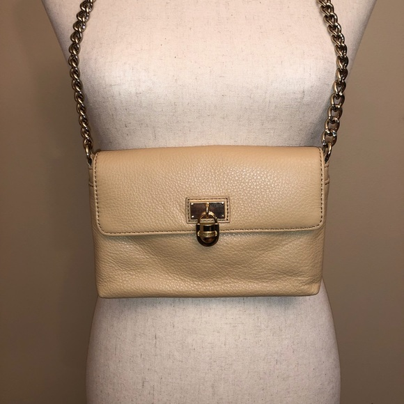 Calvin Klein Modena Tan Leather Crossbody Bag
